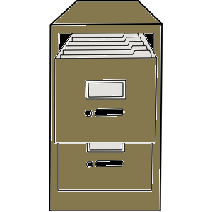 Picture of open filing cabinet
