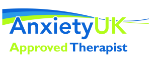 AnxietyUK Logo: Approved therapist